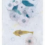 魚の夢  drypoint 2013